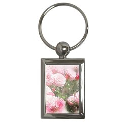 Flowers Roses Art Abstract Nature Key Chains (rectangle)  by Celenk