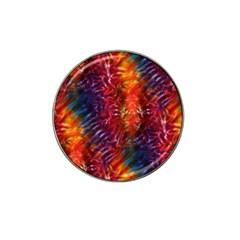 Vibrant Hippy Tye Dye Hat Clip Ball Marker (10 Pack)