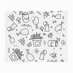 Set Chalk Out Scribble Collection Small Glasses Cloth by Celenk