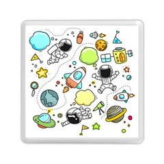 Sketch Set Cute Collection Child Memory Card Reader (square)  by Celenk