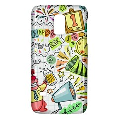 Doodle New Year Party Celebration Galaxy S5 Mini by Celenk