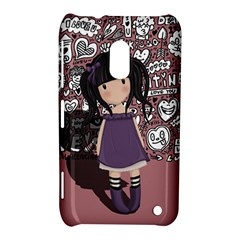 Dolly Girl In Purple Nokia Lumia 620 by Valentinaart