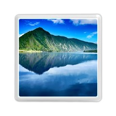 Mountain Water Landscape Nature Memory Card Reader (square)  by Celenk
