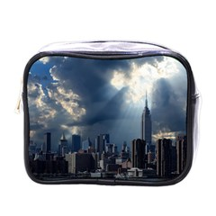 New York America New York Skyline Mini Toiletries Bags by Celenk