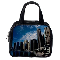 Skyscraper City Architecture Urban Classic Handbags (one Side) by Celenk