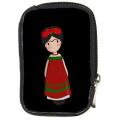 Frida Kahlo Doll Compact Camera Cases by Valentinaart