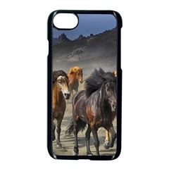 Horses Stampede Nature Running Apple Iphone 8 Seamless Case (black) by Celenk