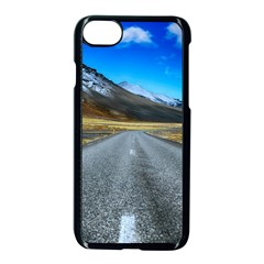 Road Mountain Landscape Travel Apple Iphone 7 Seamless Case (black) by Celenk