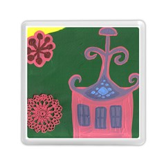 The Biggest Pink House Memory Card Reader (square)  by snowwhitegirl