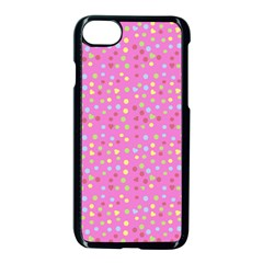 Pink Heart Drops Apple Iphone 8 Seamless Case (black) by snowwhitegirl