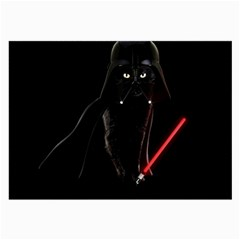 Darth Vader Cat Large Glasses Cloth (2 Side) by Valentinaart