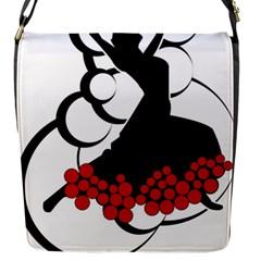 Flamenco Dancer Flap Messenger Bag (s)