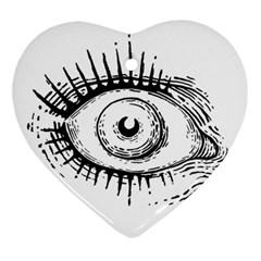 Big Eye Monster Ornament (heart)