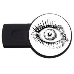 Big Eye Monster Usb Flash Drive Round (2 Gb)