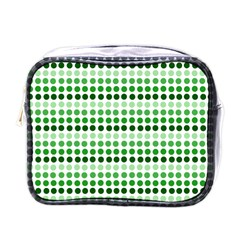 Greenish Dots Mini Toiletries Bags by snowwhitegirl