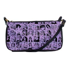 Lilac Yearbok Shoulder Clutch Bags