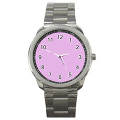 Pink Flowers Sport Metal Watch