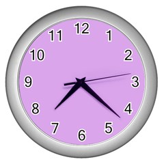 Purple Whim Wall Clocks (silver)  by snowwhitegirl