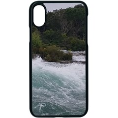 Sightseeing At Niagara Falls Apple Iphone X Seamless Case (black) by canvasngiftshop