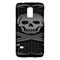 Skull Metal Background Carved Galaxy S5 Mini by Onesevenart