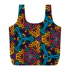 Grubby Colors Kaleidoscope Pattern Full Print Recycle Bags (l)  by Onesevenart