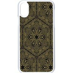 Texture Background Mandala Apple Iphone X Seamless Case (white) by Onesevenart