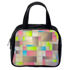 Background Abstract Grid Classic Handbags (one Side) by Nexatart