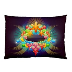Badge Abstract Abstract Design Pillow Case (two Sides)