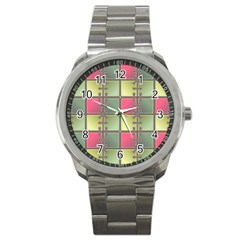 Seamless Pattern Seamless Design Sport Metal Watch