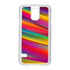 Colorful Background Samsung Galaxy S5 Case (white) by Nexatart