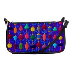 Colorful Background Stones Jewels Shoulder Clutch Bags