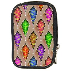 Abstract Background Colorful Leaves Compact Camera Cases by Nexatart
