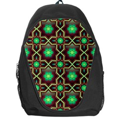 Pattern Background Bright Brown Backpack Bag by Nexatart