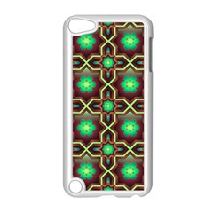 Pattern Background Bright Brown Apple Ipod Touch 5 Case (white) by Nexatart