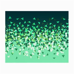 Green Disintegrate Small Glasses Cloth (2 Side) by jumpercat