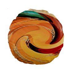 Spiral Abstract Colorful Edited Standard 15  Premium Round Cushions by Nexatart