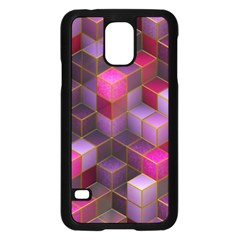 Cube Surface Texture Background Samsung Galaxy S5 Case (black) by Nexatart