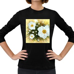 Summer Anemone Sylvestris Women s Long Sleeve Dark T Shirts