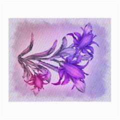 Flowers Flower Purple Flower Small Glasses Cloth (2 Side)