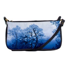 Nature Inspiration Trees Blue Shoulder Clutch Bags