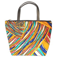 Fabric Texture Color Pattern Bucket Bags by Nexatart