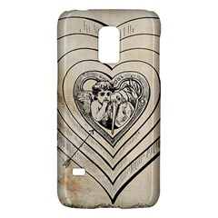 Heart Drawing Angel Vintage Galaxy S5 Mini by Nexatart