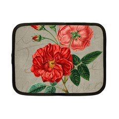 Flower Floral Background Red Rose Netbook Case (small)  by Nexatart