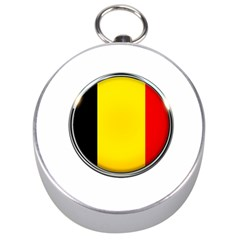 Belgium Flag Country Brussels Silver Compasses by Nexatart
