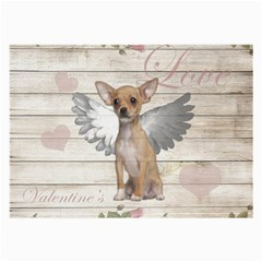 Vintage Chihuahua   Valentines Day Large Glasses Cloth (2 Side)