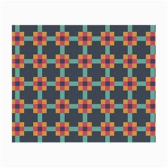 Squares Geometric Abstract Background Small Glasses Cloth (2 Side)