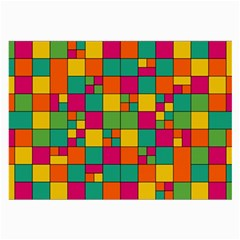 Squares Abstract Background Abstract Large Glasses Cloth (2 Side)