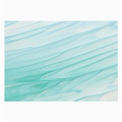 Blue Texture Seawall Ink Wall Painting Large Glasses Cloth (2 Side) by Nexatart