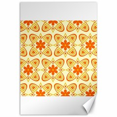 Background Floral Forms Flower Canvas 12  X 18   by Nexatart