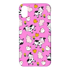 The Farm Pattern Apple Iphone X Hardshell Case by Valentinaart